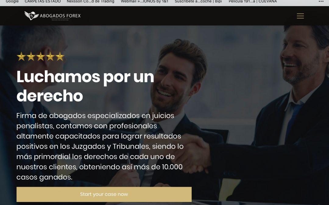 www.abogadosforex.com, otra web que se aprovecha de las desgracias ajenas