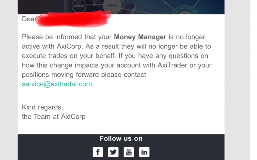 """Cuando un """"gestor de cuentas"""", te quema la cuenta, lo que tienes que hacer es informar la broker, para que le peguen una patada en el culo…"""