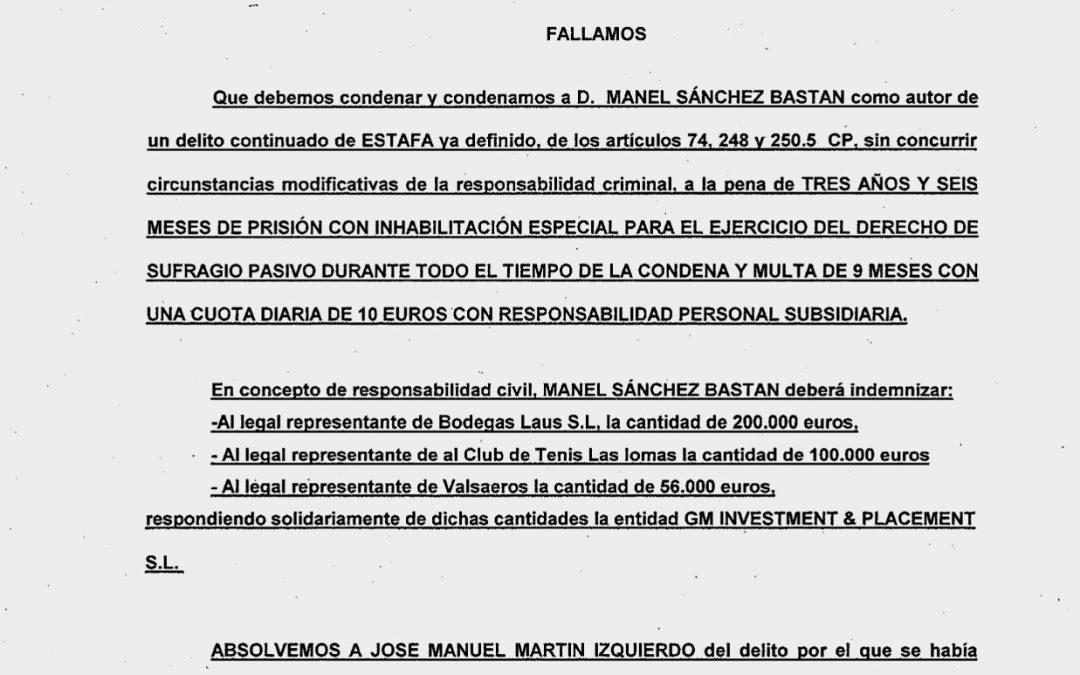 Manel Bastan, dueño de GMIP.NET, condenado a 3 años y 6 meses por ESTAFA