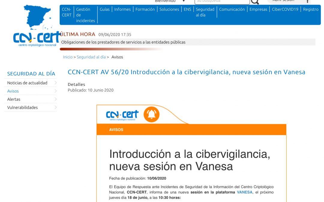 Curso de Ciberseguridad del Centro Criptológico Nacional, dependiente del CNI ( Centro Nacional de Inteligencia )