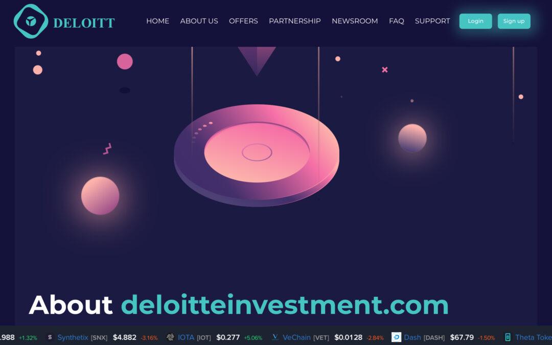 Nuevo Crypto-Scam: Deloitteinvestment.com