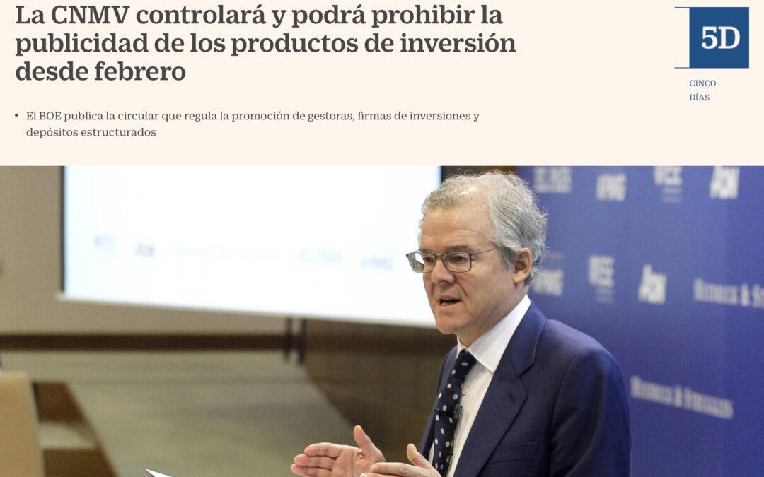 La CNMV de España por fin controlará la publicidad en las empresas de inversión. Más vale tarde que nunca.